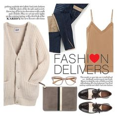 """""""Fashion delivers"""" by punnky ❤ liked on Polyvore featuring Pons Quintana, Acne Studios, By Malene Birger, Clare V. and Linda Farrow"""