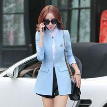 Áo khoác dạ nữ dài tay thời trang, phối màu ôm thân trang nhã, nữ tính