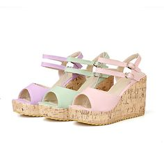 Women's Shoes Wedge Heel Peep Toe Sandals Dress Shoes More Colors available – USD $ 37.99