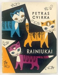 "Birutė ŽILYTĖ - The cover for Petras Cvirka's book ""Rainiukai"", 1962."