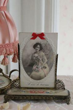 """""""Marco de fotos Petit Pointe destacan"""" Tiempos Antiguos y Modernos, aire Suavidad Coconfouato [Objetos Antiguos y Diversos] Reino Unido Francia ..."""