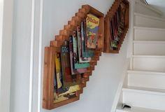 Stripboekenrek voor Dirk Jan stripboeken. Stairs, Home Decor, Stairway, Decoration Home, Staircases, Room Decor, Ladders, Interior Decorating, Ladder