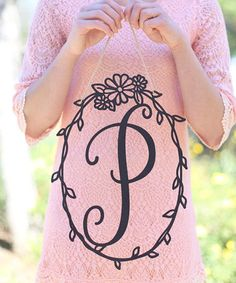 Look what I found on #zulily! Unfinished Spring Oval Initial Wall Sign #zulilyfinds. $19.99