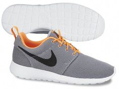 4d71a396268c1 nike roshe run mesh grey orange Nike Roshe Run Mesh