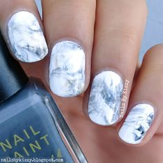 Nails By Kizzy: Marble Nails! #WNAC2016