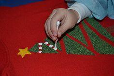 Easy Christmas Tree Shirt to make with kids