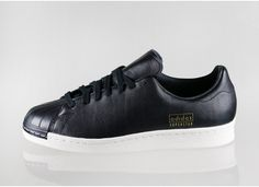 adidas Superstar 80s Clean (Core Black / Core Black / Gold)