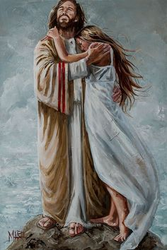 - Your embrace is comfort - House Of Maria ZA Jesus Christ Painting, Jesus Artwork, Paintings Of Christ, Art Paintings, Lds Art, Bible Art, Pictures Of Jesus Christ, Pictures Of God, Jesus Pics