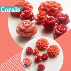 Gemsforjewels brings you The Coral Reef. A beautiful collection of coral Roses in Red, Pink and Orange. The Coral Dahlias.. mesmerize with these beauties. Shop Flat 60% off store wide!!