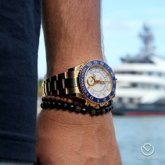 All hands on deck! Yacht-Master II All Gold Pre-owned $27500