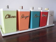 1960's spice canisters