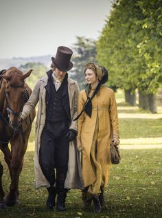 James Norton as Henry Alveston and Eleanor Tomlinson as Georgiana Darcy in Death Comes to Pemberley (TV Mini-Series, 2013).