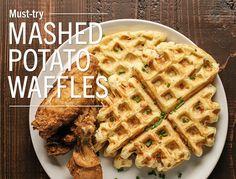 Mashed Potato WafflesThese savory waffles are a great way to use leftover mashed…