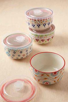 Ceramic Food Storage Bowls Set