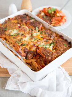 Nothing screams comfort food louder than pasta bake & this vegetarian version is no exception. Easy Cheesy Vegetable Pasta Bake - your new favourite dinner! Pesto Pasta Bake, Vegetable Pasta Bake, Pasta Cheese, Healthy Salad Recipes, Vegetarian Recipes, Baked Pasta Recipes Vegetarian, Vegetarian Dinners, Veg Recipes, Pasta Casserole
