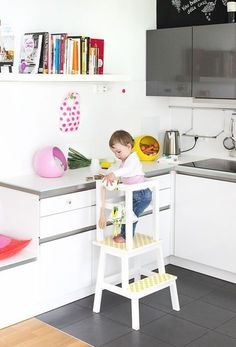ikea hack unser learning tower lernturm diy div pinterest kinderzimmer lernturm und. Black Bedroom Furniture Sets. Home Design Ideas