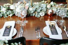 Urban Garden Glam Wedding at Katy's Palace Bar by Blackframe Photography {Georja & Danny} - Modern Wedding Table Settings, Place Settings, Indoor Garden, Indoor Plants, Tropical Plants, Palace, Table Decorations, Garden Ideas, Garden Tips