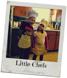 little chefs, DIY chefs hat, kids apron