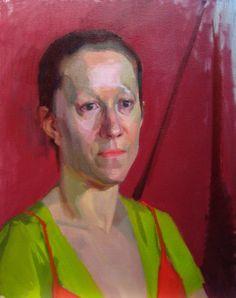 "Snehal Page Jenine - 2 Oil on Canvas 16""x20"" http://www.snehalpage.com/Paintings/FullSize/Portraits/020p%20Jenine2.jpg"