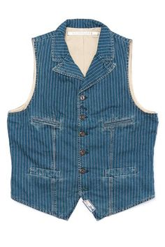 Your source for vests and waistcoats featuring Scarti Lab, Captain Santors and A. Skinny Fashion, Denim Fashion, Retro Fashion, Fashion Men, Mode Vintage, Vintage Denim, Edwin Jeans, Waistcoat Men, Country Wear