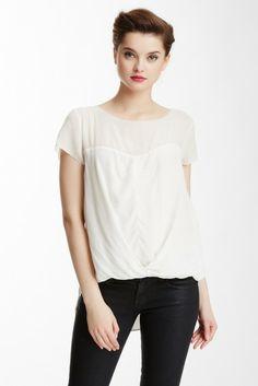 Kadin Short Sleeve Enzume Silk Blouse
