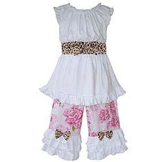 AnnLoren Girls' Boutique Autumn Pumpkin Patch Outfit - Overstock Shopping - Great Deals on Ann Loren Girls' Sets