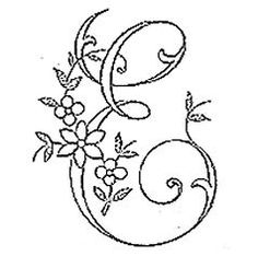 Wonderful Ribbon Embroidery Flowers by Hand Ideas. Enchanting Ribbon Embroidery Flowers by Hand Ideas. Embroidery Alphabet, Embroidery Monogram, Silk Ribbon Embroidery, Hand Embroidery Patterns, Floral Embroidery, Cross Stitch Embroidery, Fancy Letters, Monogram Design, Illuminated Letters