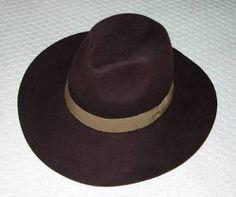 #アジア座帽子店#つば広中折れ帽子*焦茶+モカ色belt-【楽天オークション】