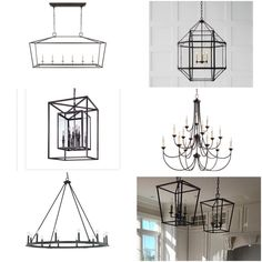 Kitchen Lighting Lantern Visual Comfort 34 New Ideas Lantern Pendant Lighting, Chandelier Ideas, Wrought Iron Chandeliers, Rustic Contemporary, Black Lamps, New House Plans, Visual Comfort, Kitchen Lighting, Modern Farmhouse