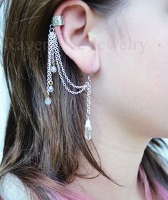 Ear+Cuff+Quartz+Crystal+Point+with+Silver+Tone+by+ravenevejewelry,+$22.00