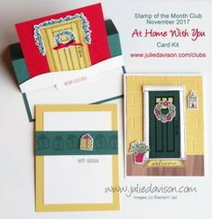Stampin' Up! At Home With You Card Kit for November 2017 Stamp of the Month Club ~ 2017-2018 Annual Catalog ~ www.juliedavison.com