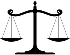 English: Balanced scale of Justice