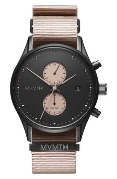 MVMT Voyager Chronograph Canvas Strap Watch, 42mm available at #Nordstrom