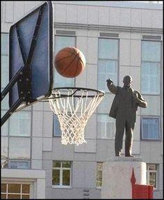 Lenin playing basketball