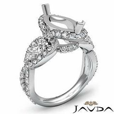 Pave Engagement Rings Marquise 13