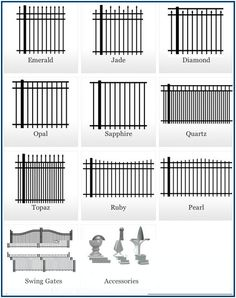Picket Fence Styles Set Of Fences And Wall Brick Design