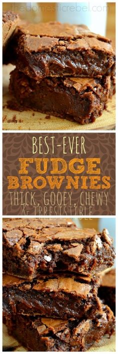 Thick, chewy, and unapologetically gooey, these Fudge Brownies are my favorite and the BEST!