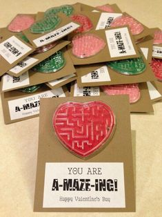 cute maze as valentine for classmates