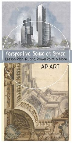 This AP Art project focuses on two of the techniques looked for in an AP Art portfolio: accurate perspective and creating an illusion of depth. #apart #apstudioart #2ddesign #drawingportfolio #collegeboard #tpt #perspective #lesson #project #arteducation