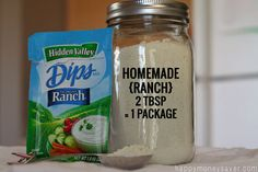 DIY Copycat Homemade Hidden Valley Ranch Mix is part of snack mix recipes Healthy Homemade Ranch - Mix up your own ranch dressing mix from scratch, with no MSG Homemade Spices, Homemade Seasonings, Homemade Ranch Seasoning, Homemade Recipe, Hidden Valley Ranch Copycat Recipe, Hidden Valley Ranch Packet, Recipe For Hidden Valley Ranch Dressing, Hidden Valley Ranch Powder Recipe, Homemade Dressing