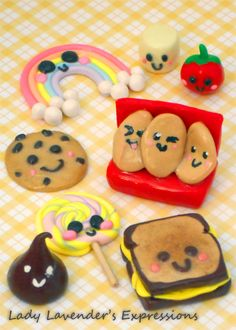 Polymer Clay Kawaii Faces. I think putting faces on your polymer clay charms makes them instantly cute-ified.