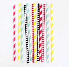Party Kitsch circus mix straws
