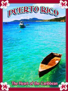 United States Puerto Rico Caribbean Sea America Travel Advertisement Art Poster