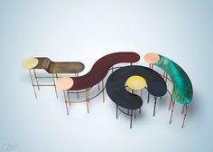 Italian furniture brand De Castelli only showed work by female designers at this year's Milan Design Week. Design Furniture, Metal Furniture, New Furniture, Table Furniture, Design Thinking, Coffee Table Design, Coffee Tables, Design Blog, Copper And Brass