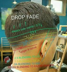 Dreadlock Styles For Long Hair 2017 - Dread Hairstyles For Men Click image for more. Barber Haircuts, Haircuts For Men, Men's Haircuts, Boys Haircuts 2018, Hair And Beard Styles, Short Hair Styles, Barber Tips, Haircut Tip, Boys Fade Haircut