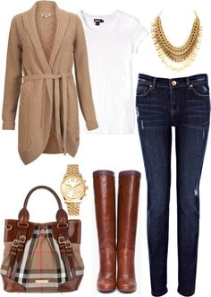 """Chic Fall Outfit"" by natihasi on Polyvore"