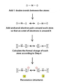 lewis dot diagram steps iphone 4 charger wire of vsepr model 1 draw the structure 2 nitrite ion no2 resonance structures