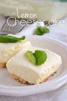 Low Carb Lemon Cheesecake | Mother Thyme #lowcarb #desserts