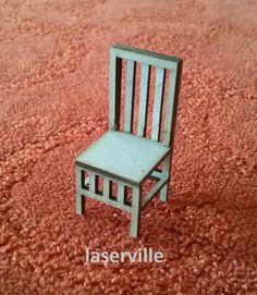 Dollshouse miniature half scale (1/24 , 1/2 inch) chair.