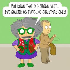 Matching Quilted Vests | Mrs. Bobbins Put down that old brown vest...I've quilted us matching Christmas ones.
